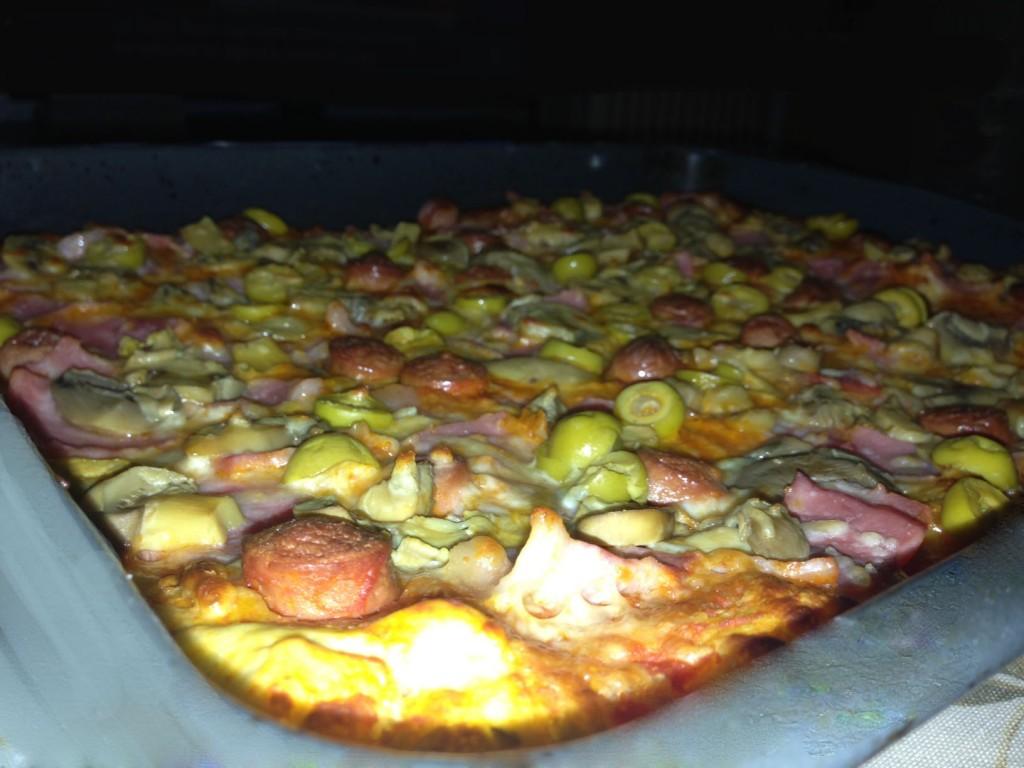 pizza en panificadora