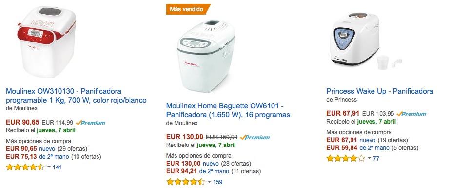 Comprar panificadora en Amazon